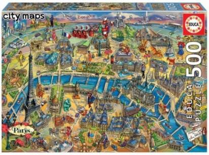 PUZZLE 500 MAPA DE PARIS 18452