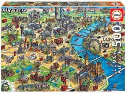 PUZZLE 500 MAPA DE LONDRES...