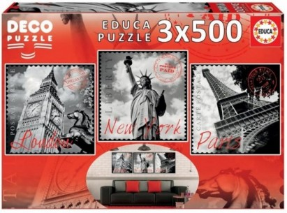 PUZZLE 3X500 GRANDES...